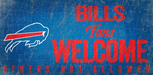 Buffalo Bills Wood Sign Fans Welcome 12x6