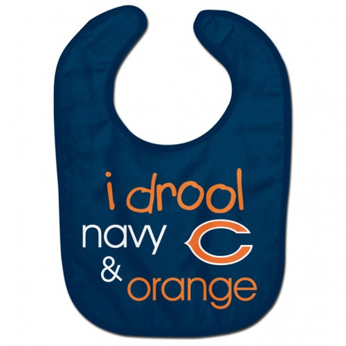 Chicago Bears Baby Bib All Pro I Drool Design