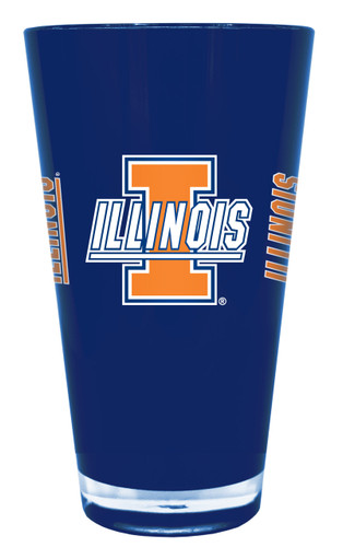 Illinois Fighting Illini 20 oz Insulated Plastic Pint Glass