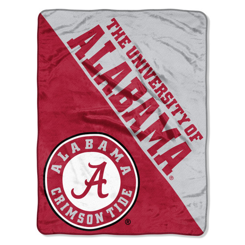 Alabama Crimson Tide Blanket 46x60 Micro Raschel Halftone Design Rolled