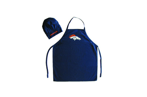 Denver Broncos Apron and Chef Hat Set