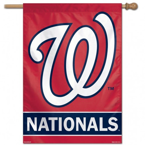 Washington Nationals Banner 28x40 Vertical