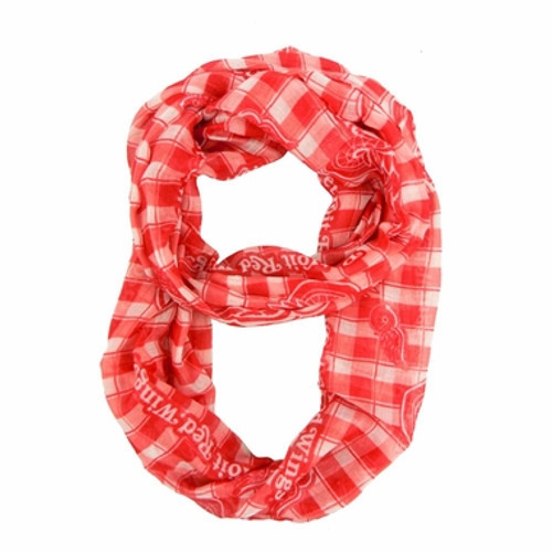 Detroit Red Wings Infinity Scarf - Plaid