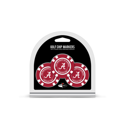 Alabama Crimson Tide Golf Chip with Marker 3 Pack