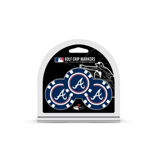Atlanta Braves Golf Chip with Marker 3 Pack