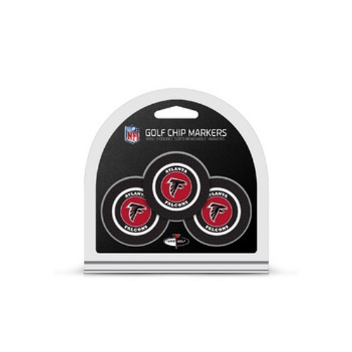 Atlanta Falcons Golf Chip with Marker 3 Pack