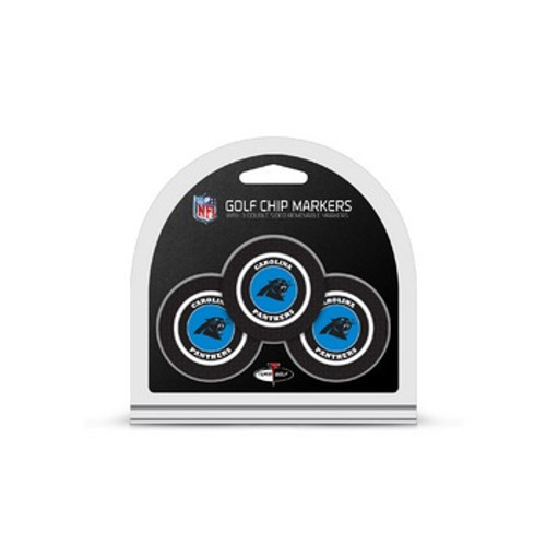 Carolina Panthers Golf Chip with Marker 3 Pack