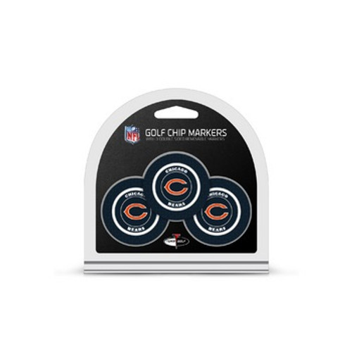 Chicago Bears Golf Chip with Marker 3 Pack