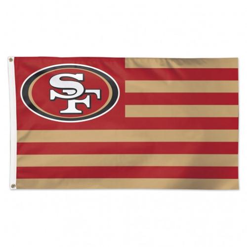 San Francisco 49ers Flag 3x5 Deluxe Americana Design