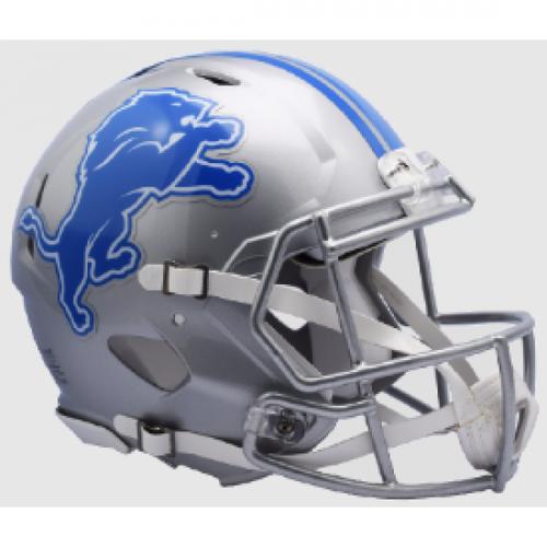 Detroit Lions Helmet Riddell Authentic Full Size Speed Style
