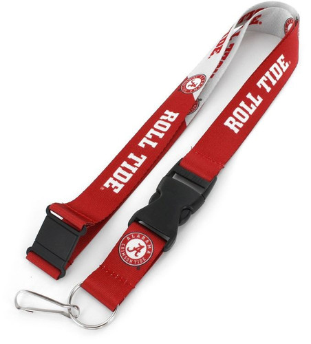 Alabama Crimson Tide Lanyard Breakaway Style Slogan Design