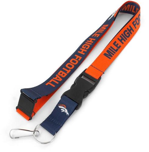 Denver Broncos Lanyard Breakaway Style Slogan Design