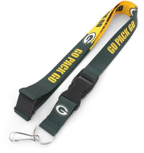 Green Bay Packers Lanyard Breakaway Style Slogan Design