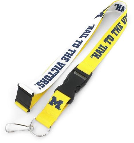 Michigan Wolverines Lanyard Breakaway Style Slogan Design