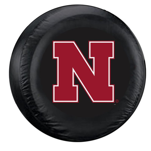 Nebraska Cornhuskers Tire Cover Large Size Black