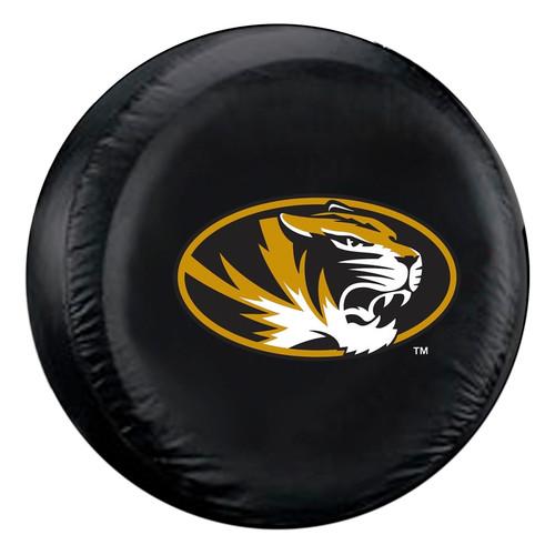 Missouri Tigers Tire Cover Standard Size Black