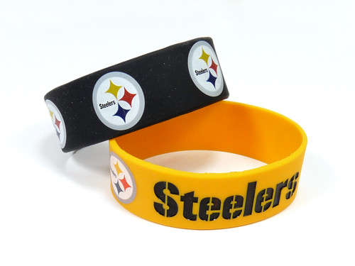 Pittsburgh Steelers Bracelets 2 Pack Wide