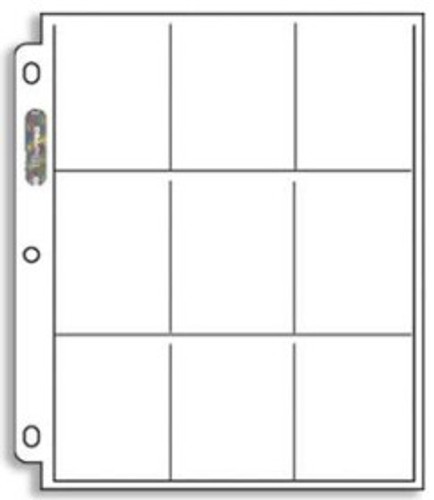 Ultra Pro 9-Pocket Pages - 209D-1 (100ct)