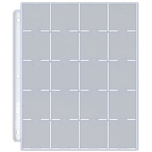 Ultra Pro 20-Pocket Multi-Coin Page (10ct)