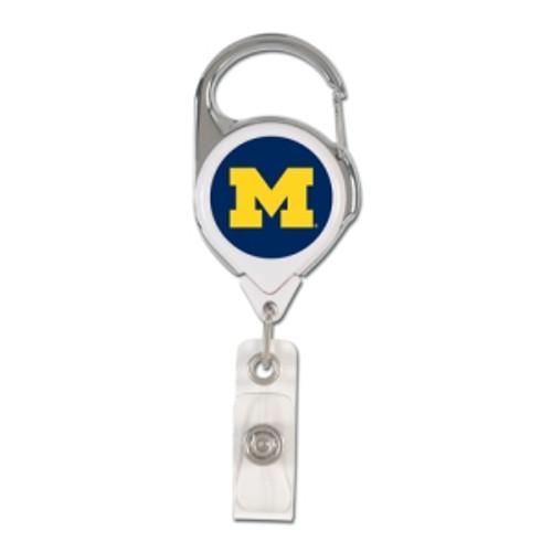 Michigan Wolverines Retractable Premium Badge Holder