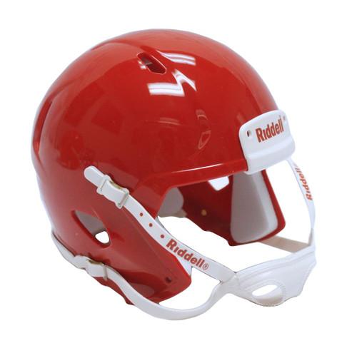 Riddell Speed Blank Mini Football Helmet Shell - Scarlet