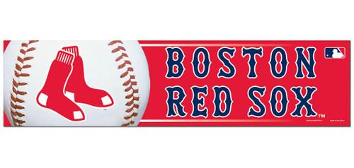 Boston Red Sox Bumper Sticker - Red Background