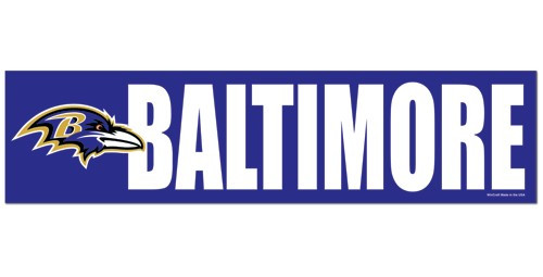Baltimore Ravens Decal Bumper Sticker