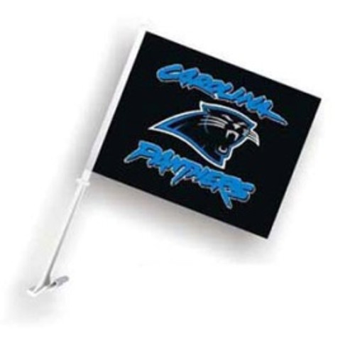 Carolina Panthers Car Flag (Black)