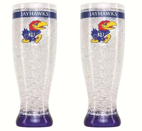 Kansas Jayhawks Crystal Pilsner Glass