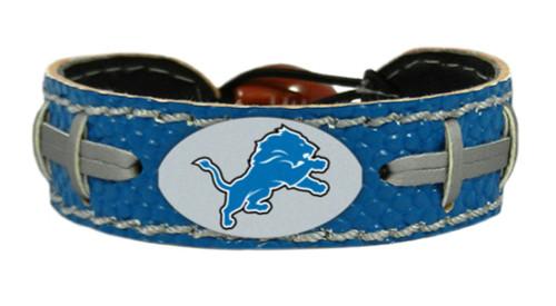 Detroit Lions Team Color Football Bracelet