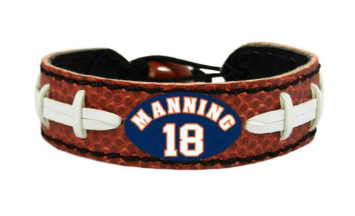 Denver Broncos Peyton Manning Classic Football Bracelet