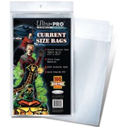 Comic Bags - Current Size (100 per pack)