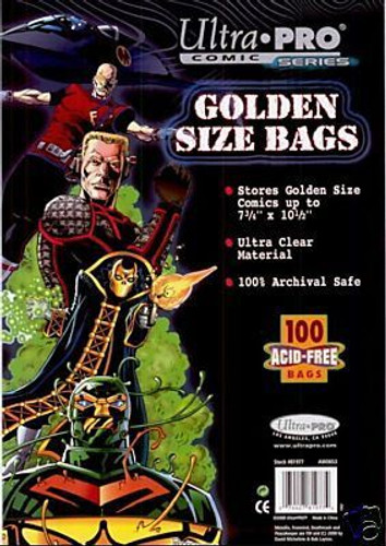 Comic Bags - Golden Size (100 per pack)