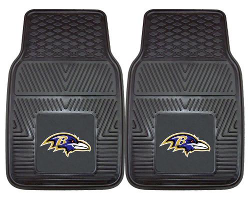 Baltimore Ravens Car Mats Heavy Duty 2 Piece Vinyl