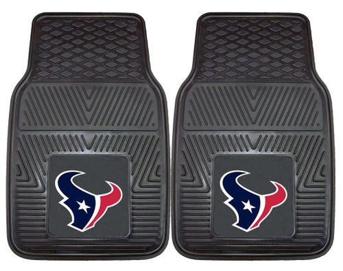 Houston Texans Car Mats Heavy Duty 2 Piece Vinyl