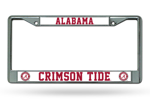 Alabama Crimson Tide Chrome License Plate Frame