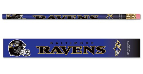 Baltimore Ravens Pencil 6 Pack