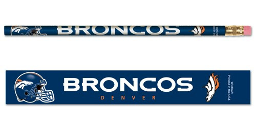 Denver Broncos Pencil 6 Pack