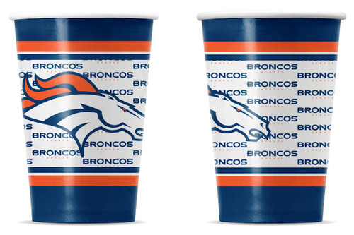 Denver Broncos Disposable Paper Cups