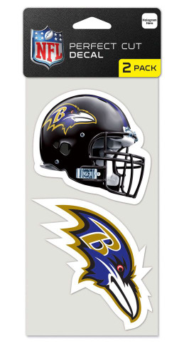 Baltimore Ravens Set of 2 Die Cut Decals