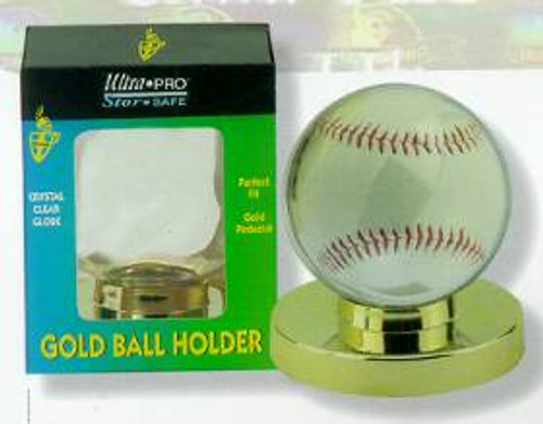 Baseball Holder - Gold Base