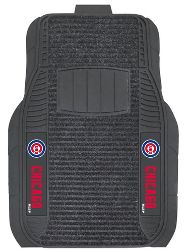 Chicago Cubs Car Mats - Deluxe Set