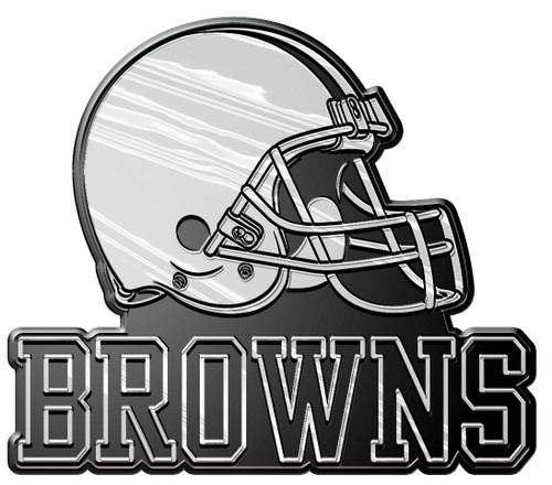 Cleveland Browns Auto Emblem - Silver