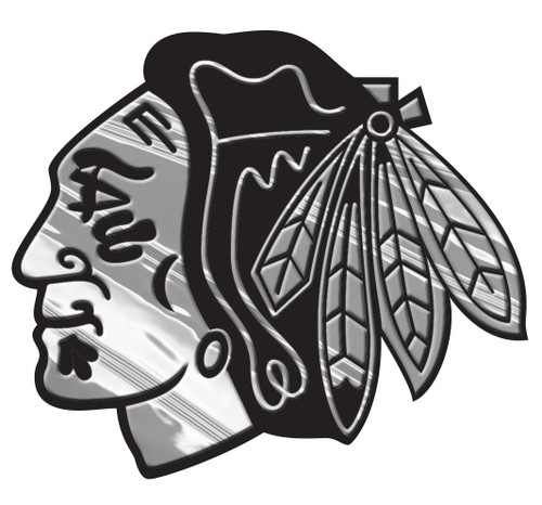 Chicago Blackhawks Auto Emblem - Silver