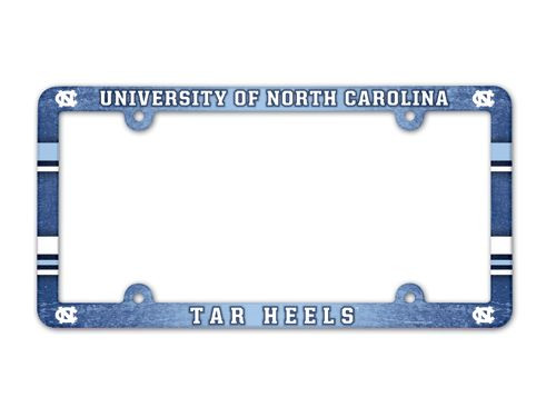 North Carolina Tar Heels License Plate Frame - Full Color