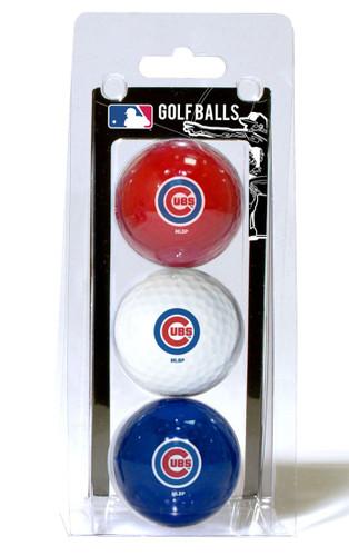 Chicago Cubs 3 Pack of Golf Balls