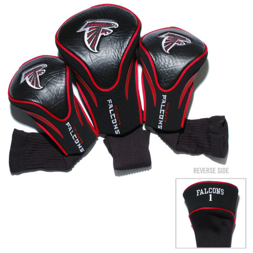 Atlanta Falcons Golf Club 3 Piece Contour Headcover Set