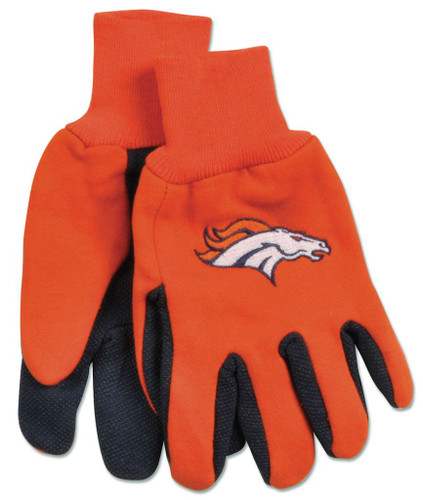 Denver Broncos Two Tone Youth Size Gloves
