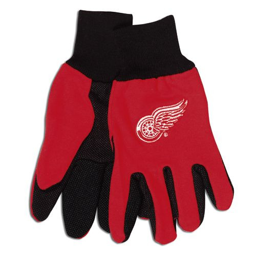 Detroit Red Wings Two Tone Gloves - Adult