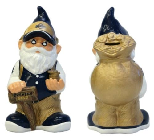Milwaukee Brewers Garden Gnome - Coin Bank